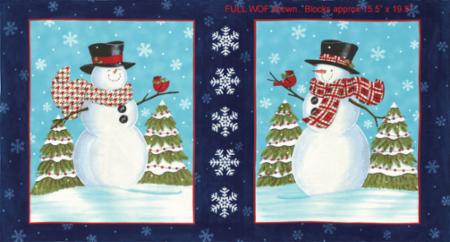 Snow Much Fun Fabric Panel