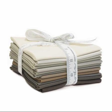 Bella Solids Classic Star Taupe Collection - Fat Qtr Bundle