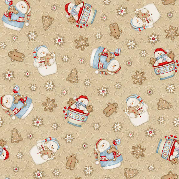 Cookies and Cocoa Flannel Panel