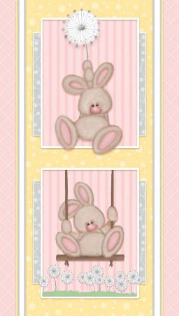 Fluffy Bunny Flannel Panel