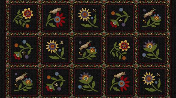 Flower Patch Flannel Panel