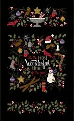 Most Wonderful Time Flannel Panel