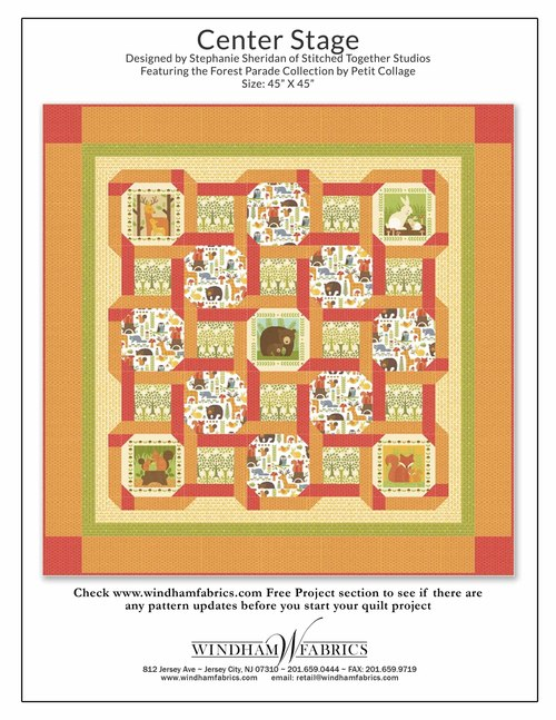 Forest Parade Free Quilt Pattern