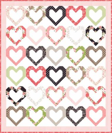 "Olive's Flower Market pattern ""Open Heart"""
