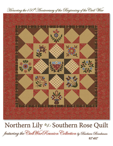 Northern Lily & Southern Rose Quilt pattern