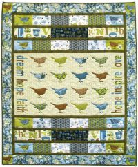 "Birds & Blooms Quilt ""Simple Dream"""